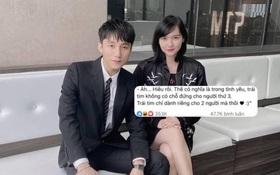 """Giữa drama với Thiều Bảo Trâm - Hải Tú, Sơn Tùng M-TP bất ngờ bị """"đào mộ"""" status nói về chuyện tình tay ba"""