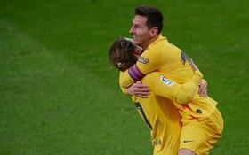 Messi lập cú đúp tinh tế, Barca kết thúc chuỗi ngày u ám để vươn lên top 3 La Liga