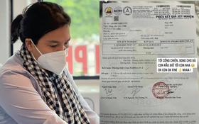 Trưởng nhóm Mai táng 0 đồng Giang Kim Cúc đăng ảnh kết quả xét nghiệm dương tính SARS-CoV-2