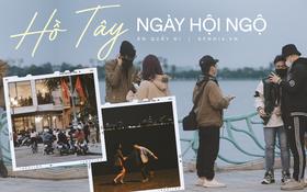 Giới trẻ Hà Nội đổ ra hồ Tây vui chơi cho bõ những ngày mưa dầm, các cặp đôi quấn quýt nhìn mà ghen!