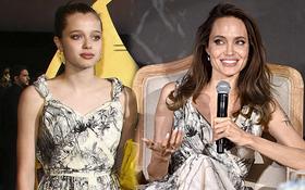 Chỉ vì 1 chiếc váy cũ, Angelina Jolie lại bị con gái giật spotlight trong chính buổi ra mắt phim của mình