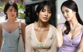 """""""Bỏng mắt"""" với số lần hở bạo của Song Hye Kyo: Mặc váy khoét ngực sâu hoắm, vòng 1 bị o ép như chực trào ra"""