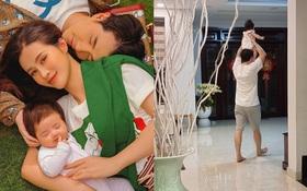 """Đông Nhi tung ảnh siêu cưng của Ông Cao Thắng và con gái, tuyên bố thế lực nhí Winnie mới chính là """"nóc nhà"""""""
