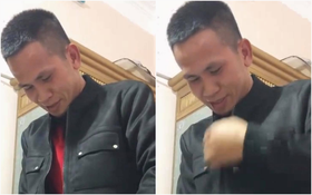 """Biểu cảm hạnh phúc của """"người hùng"""" Nguyễn Ngọc Mạnh khi được vợ thưởng áo mới hút 6,6 triệu view"""