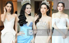 """Thảm đỏ Miss World VN 2021: Đỗ Thị Hà lộ khuyết điểm, Lương Thùy Linh và dàn hậu """"chặt chém"""" chưa nổi bằng bụng bầu của Tường San?"""