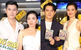 """Cặp đôi nhà Đông Nhi, Lệ Quyên thi nhau """"show ân ái"""" không kém cạnh Trấn Thành - Hariwon ở siêu thảm đỏ Bố Già"""