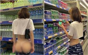 Xôn xao vì chụp ảnh tụt quần khoe trọn vòng 3 giữa siêu thị, nhân vật chính lên tiếng