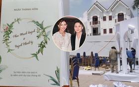 Lộ thiệp mời và hình ảnh lễ đường trước thềm hôn lễ của Phan Mạnh Quỳnh tại Nghệ An, nhìn qua đã biết là hoành tráng không vừa