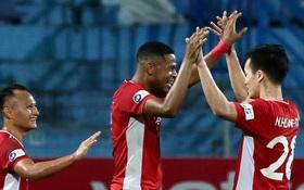 """""""Cơn lốc đỏ"""" Viettel giành chiến thắng 2-1 gay cấn trước CLB Quảng Ninh"""