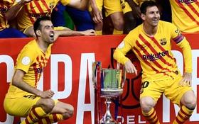 Messi lập cú đúp, Barca vùi dập Bilbao để vô địch Cúp Nhà vua Tây Ban Nha