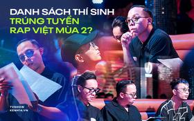 """Xôn xao danh sách dàn thí sinh đã """"vượt ải"""" casting Rap Việt mùa 2: Chỉ có 2 thí sinh nữ hiếm hoi?"""