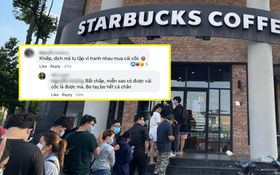 Ngán ngẩm cảnh hội cuồng Starbucks xếp hàng từ sáng sớm để săn cốc, dân mạng chỉ ra một vấn đề rất đáng báo động