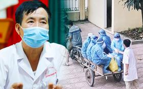 """Gặp bác sĩ trong bức ảnh nhân viên y tế đi xe ba gác vào vùng dịch: """"Tôi chỉ biết bắt tay để truyền động lực cho anh em"""""""