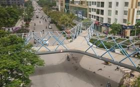 Ảnh: Chiêm ngưỡng cây cầu chữ Y độc nhất tại Hà Nội sắp đi vào vận hành