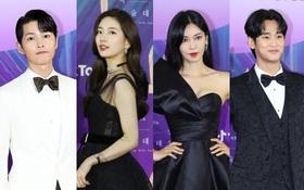 """Siêu thảm đỏ Baeksang 2021: Song Joong Ki - Kim Soo Hyun át cả nữ thần Suzy, """"ác nữ"""" Kim So Yeon o ép vòng 1 dẫn đầu đoàn sao Penthouse"""
