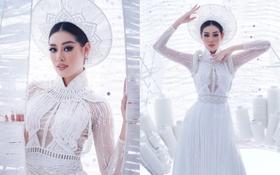 Ngắm trọn vẹn quốc phục Khánh Vân sẽ diện ở đêm Bán kết Miss Universe 2020: Cầu kỳ đến mức bị thương, nhưng tôn visual đỉnh cao