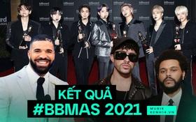 Kết quả Billboard Music Awards 2021: BTS chiến thắng tuyệt đối, The Weeknd gây choáng với 10 cúp, Drake và P!nk được vinh danh!