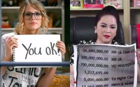 Tối thứ 3 của bà Phương Hằng thiệt là giống Taylor Swift thời You Belong With Me?