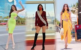 """Netizen """"xỉu ngang"""" với số outfit của Khánh Vân: 5 ngày mặc 8 set đẹp đỉnh, định san phẳng Miss Universe luôn hay gì?"""