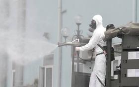 Ảnh: Hơn 1km tuyến đường ven bệnh viện với hơn 6,6 hecta viện K Tân Triều được phun khử khuẩn, tiêu độc