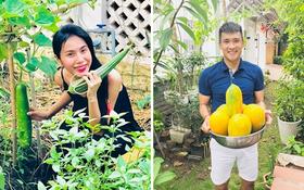 Sống giữa khu nhà giàu mà Thuỷ Tiên vẫn có vườn rau rộng 100m2: Không cần đi chợ vì quá sum suê, rau gì cũng có!