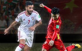 """23h45 ngày 15⁄6, UAE vs Việt Nam: Gặp lại bại tướng đã được... """"update"""""""