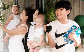 Subeo đón sinh nhật tại gia siêu sang xịn bên 2 em song sinh, cậu nhóc ngày nào nay thành anh cả lớn phổng phao rồi!