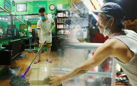 Ảnh: Chủ các hàng quán, tiệm tóc ở Hà Nội phấn khởi dọn dẹp xuyên đêm để chuẩn bị đón khách từ ngày 22⁄6