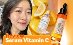 Nghe nàng da thiên khô review chi tiết 3 loại serum chứa Vitamin C hot hit hiện nay, giá chỉ 200k - hơn 300k