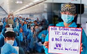 """Ảnh: Hơn 600 người dân Đà Nẵng bị """"mắc kẹt"""" tại TP.HCM được trở về quê hương trên chuyến bay 0 đồng"""