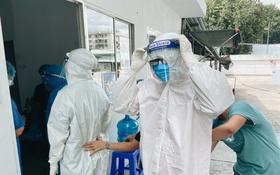 Cận cảnh khu điều trị Covid-19 trên sân bóng đá đầu tiên ở Sài Gòn vừa chính thức đón F0