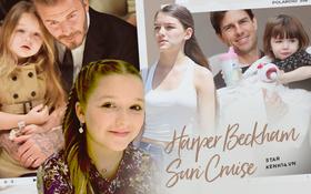 Màn lột xác của 2 ái nữ nhà đôi bạn thân Beckham - Tom Cruise: Suri chân dài gây choáng, thiên thần Harper nay điệu lắm rồi