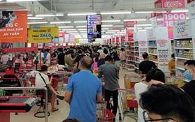 Ảnh: Khách hàng ùn ùn đi mua đồ tích trữ, các siêu thị đông nghẹt trước ngày Đà Nẵng siết chặt hơn Chỉ thị 16