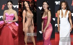 """Siêu thảm đỏ VMAs 2021: Olivia Rodrigo ngực khủng đè bẹp Camila Cabello """"dừ chát"""", Megan Fox mặc như không dẫn đầu dàn mỹ nhân phô da thịt"""