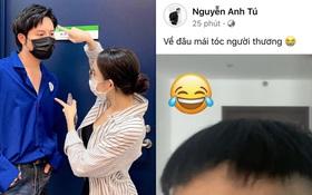 """Chưa công khai nhưng Anh Tú - Ly Ly lại lộ """"hint"""" sống chung, chi tiết mái tóc lởm chởm khiến netizen cười xỉu!"""