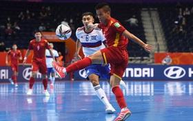 [Trực tiếp vòng 1/8 Futsal World Cup] Nga 2-1 Việt Nam (H1): VÀOOOO!!!! Đắc Huy dứt điểm tung lưới á quân thế giới