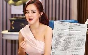 Vy Oanh công khai nội dung thư tiếp nhận điều tra nữ CEO Đại Nam của công an, sẽ khởi kiện thêm 1 người nữa