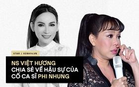 NS Việt Hương đại diện gia đình đang chuẩn bị các thủ tục hậu sự cho ca sĩ Phi Nhung