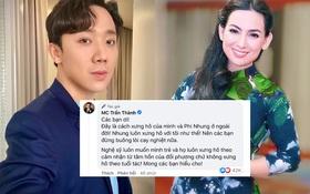 """Netizen chỉ trích Trấn Thành dữ dội về cách xưng hô """"bạn - tôi"""" dù kém cố NS Phi Nhung 17 tuổi, chính chủ giải thích có hợp lý?"""