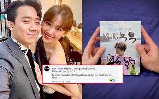 """Hari Won xúc động khoe nhận được album có chữ ký thần tượng, Trấn Thành vội vào """"bóc phốt"""" làm lộ luôn nick FB phụ?"""