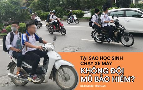 Nhức mắt cảnh hàng loạt học sinh không đội mũ bảo hiểm, phóng xe máy vèo vèo đến trường, hỏi ra lý do càng phẫn nộ hơn