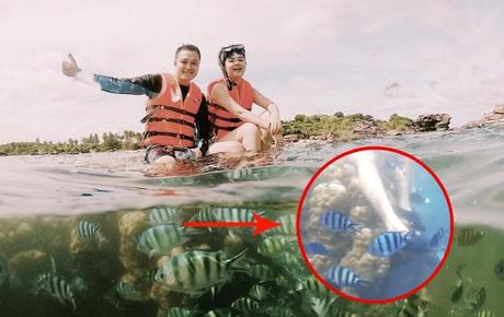 """Quang Vinh bị chỉ trích là """"phá hoại"""" vì ngồi lên rạn san hô để quay clip du lịch ở Phú Quốc"""
