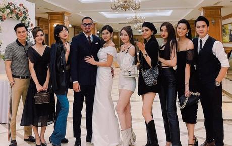 """Việt Anh, """"cá sấu chúa"""" Quỳnh Nga, Phanh Lee và hội bạn bè nổi tiếng quy tụ trong tiệc mời cưới của MC Thu Hoài"""