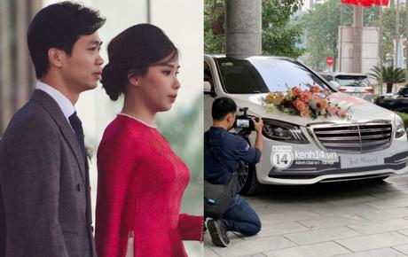 """Trực tiếp đám cưới Công Phượng tại Nghệ An: Cô dâu chú rể nắm chặt tay nhau, nam cầu thủ cực """"chịu chơi"""" chuẩn bị xe rước dâu 7,4 tỷ đồng"""