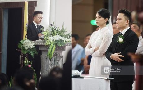 Cập nhật thánh lễ hôn phối Phan Mạnh Quỳnh: Cô dâu xinh xỉu trong tà áo dài, chú rể chăm vợ từng li từng tí ở lễ đường hoành tráng