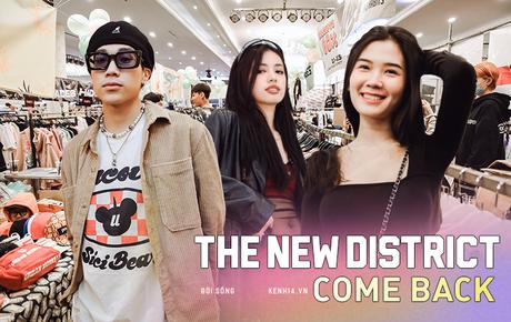 """Bà hàng xóm đội mưa đi thăm thú The New District ở Sài Gòn: Không thiếu trai xinh gái đẹp, chủ shop quần áo nhưng bán """"than"""" vì ế"""