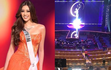 Trực tiếp Chung kết Miss Universe 2020: Lộ sân khấu cực hoành tráng và trang phục dạ hội của Khánh Vân, siêu mẫu Ngọc Quyên có mặt cổ vũ?