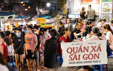 Quán xá Sài Gòn giữa mùa COVID-19 thứ 4: Nhiều địa điểm vẫn cực kỳ đông đúc, tinh thần phòng dịch của thực khách nâng cao hơn bao giờ hết
