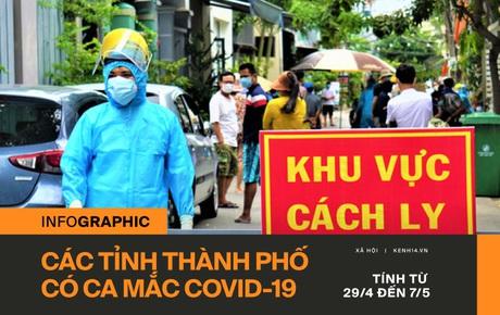 Infographic: Đã có 161 ca nhiễm Covid-19 ở 23 tỉnh thành trên cả nước tính từ ngày 29/4