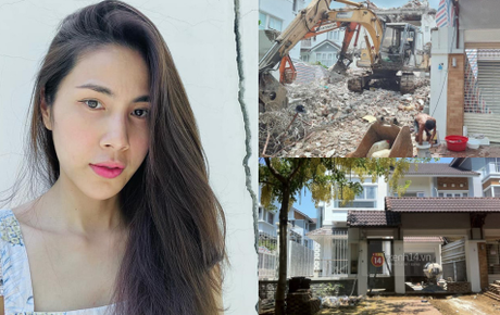 """Thuỷ Tiên bất ngờ bị tung bằng chứng nghi vấn """"lươn lẹo"""": Thông báo sửa nhà nhưng đập đi xây lại căn biệt thự 80 tỷ?"""